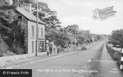 Pentrefelin, Post Office And Main Road c.1955