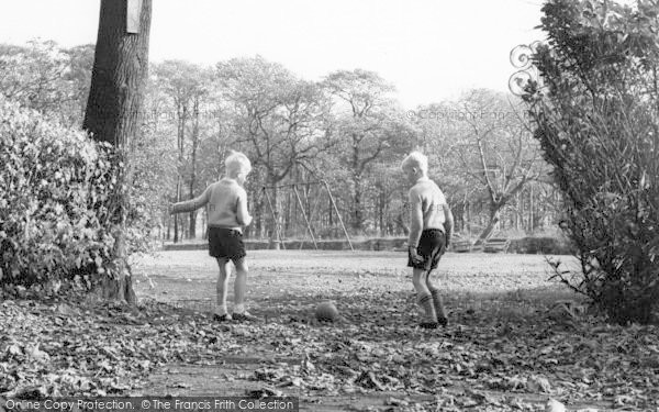 Penwortham, Football In Hurst Grange c.1965