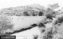 Penybontfawr, Afon Tanat c.1960