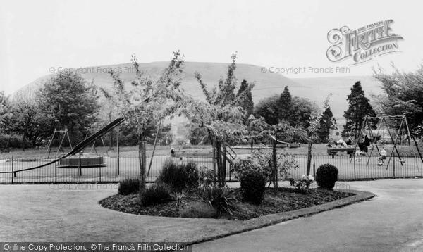 Penygraig, the Park, children's recreation ground c1955