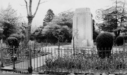 Penygraig, The Park, The Memorial c.1955