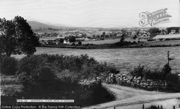 Photo of Penygroes, General View c.1965