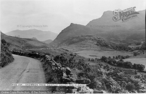 Photo of Penygroes, Snowdon From Nantlle Valley c.1965