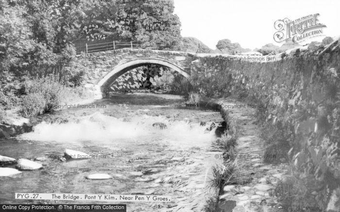Photo of Penygroes, The Bridge, Pont Y Kim c.1965