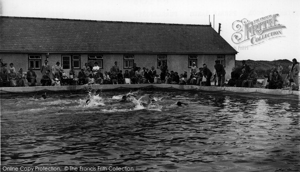 Perranporth, swimming pool Perran Sands c1960.  (Neg. P43087)  © Copyright The Francis Frith Collection 2008. http://www.francisfrith.com