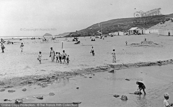 Photo of Perranporth, the Beach c1955