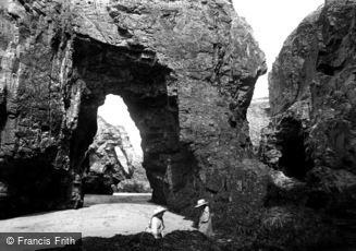 Perranporth, the Rocks 1912