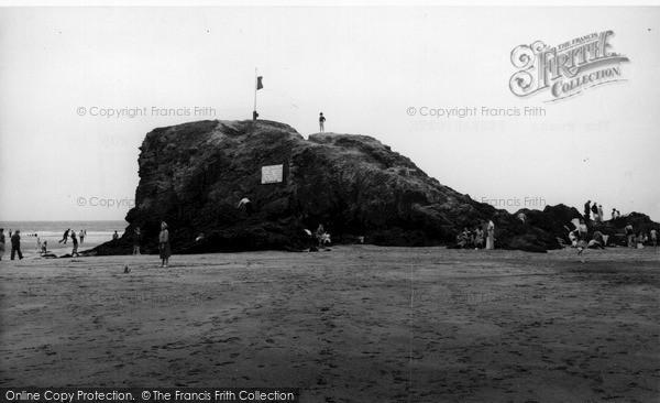 Photo of Perranporth, The Rocks c.1960
