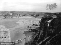 Perranporth, View From Beach 1925