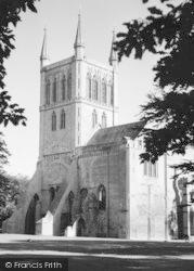 Pershore, Abbey c.1960