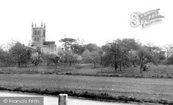 Abbey From Abbey Road c.1955, Pershore