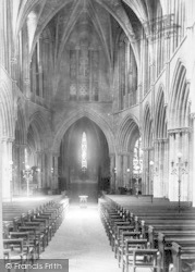 Pershore, Abbey, Nave East 1904