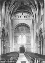 Pershore, Abbey, Nave West 1904