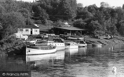 Boats On The River Avon c.1955, Pershore