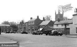 Broad Street And Abbey c.1950, Pershore