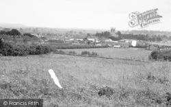 Pershore, From Holloway Hill c.1960