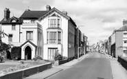 Pershore, Manor House Hotel and Bridge Street c1960