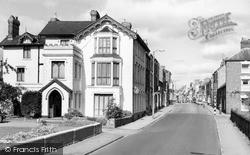 Pershore, Manor House Hotel And Bridge Street c.1960