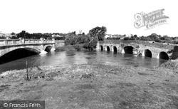Pershore, Old And New Bridges c.1960