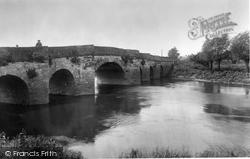 Pershore, River Avon, Old Bridge 1931