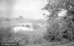 Pershore, The River Avon And New Bridge 1931