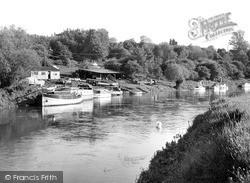 Pershore, The River Avon c.1955