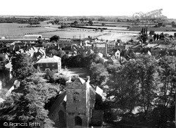 View From The Abbey Tower c.1960, Pershore