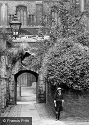 A Girl By The Cathedral Slype 1919, Peterborough