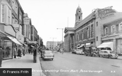 Peterborough, Bridge Street Showing Town Hall c.1960