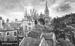 Cathedral, Abbot's Gatehouse South c.1930, Peterborough