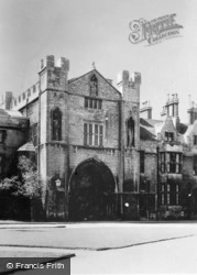 Cathedral, Abbot's Gateway c.1930, Peterborough
