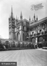 Cathedral, Ancient Wall (West Cloister) c.1930, Peterborough