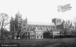 Peterborough, Cathedral And Bishop's Palace 1890