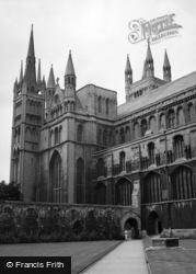 Peterborough, Cathedral c.1950