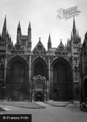 Peterborough, Cathedral c.1950