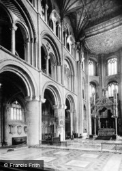 Cathedral, Choir With Great Altar c.1930, Peterborough
