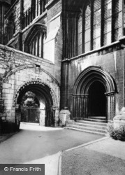 Cathedral, Cloisters North-West c.1930, Peterborough