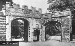 Cathedral, Deanery Gateway c.1930, Peterborough