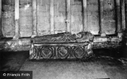 Cathedral, Effigy Of Abbot Alexander c.1930, Peterborough