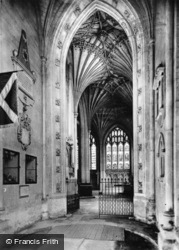 Cathedral, Entrance To East Chapel c.1930, Peterborough