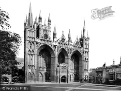 Peterborough, Cathedral From North West c.1874