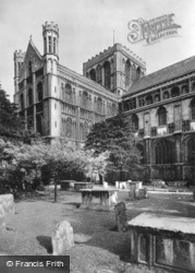 Cathedral, From North-West c.1930, Peterborough
