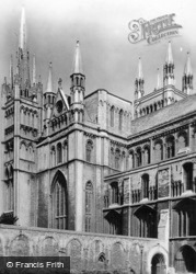 Cathedral, From South-West c.1930, Peterborough
