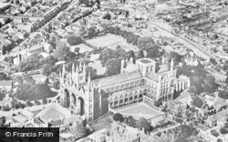 Peterborough, Cathedral From The Air c.1950