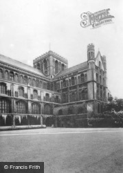 Cathedral, From The Cloisters c.1930, Peterborough