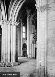 Peterborough, Cathedral, Interior c.1930