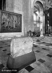 Cathedral, Monks' Stone And Tapestry c.1930, Peterborough