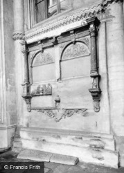 Cathedral, Monument Mutilated During Reformation c.1930, Peterborough
