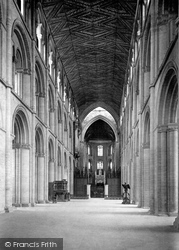Peterborough, Cathedral, Nave East 1894