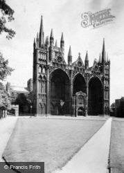 Cathedral, North-West c.1930, Peterborough